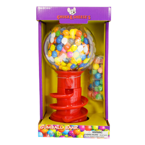 Chuck E. Cheese Gumball Machine & Kids Coin Bank