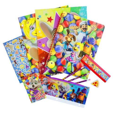 Chuck E. Cheese 11 piece Stationery Set