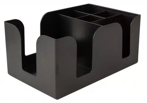 Bar Organizer 6 Compartment Black