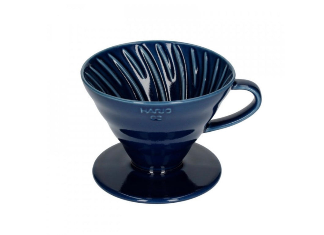 Hario coffee Dripper V60 02 Ceramic - lndigo Blue