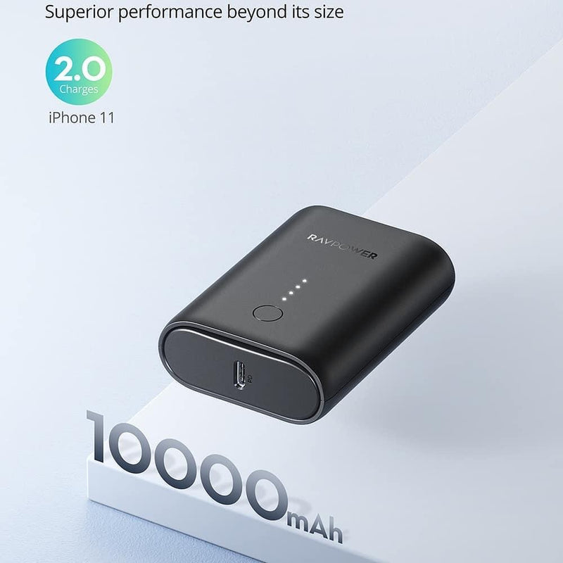 RAVPOWER 2-Port PD Pioneer Mini Power BanK 10000mAh 18W Black