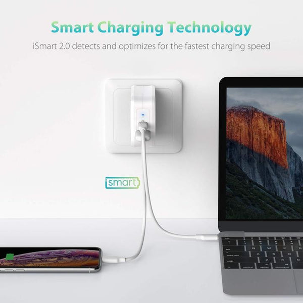 PD Pioneer 61W GaN Tech USB C Wall Charger