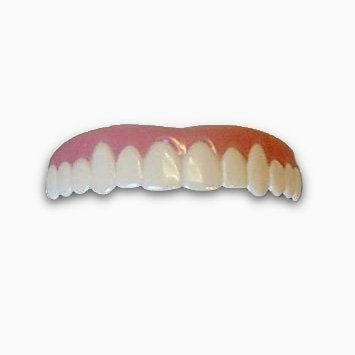 Imako Cosmetic Teeth for Women 1 Pack. (Large, Bleached) Uppers Only- Arrives Flat. Fit at Home Do it Yourself Smile Makeover!