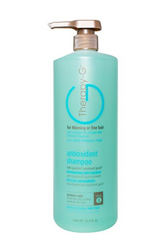 Therapy-G Antioxidant Shampoo (Liter 33.8oz) for fine, thinning hair and anti hair loss. Protects hair color and prevents damage and helps inhibit DHT and stimulate renewed growth shampoo.