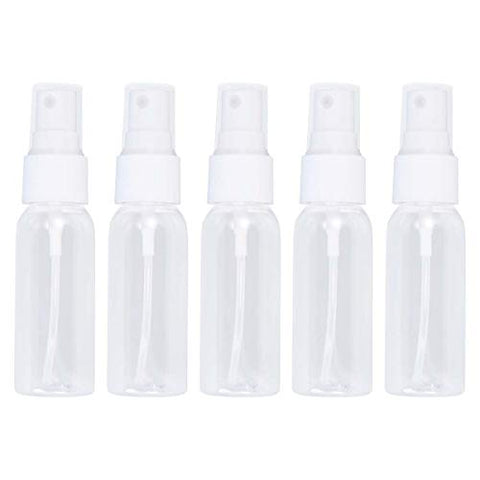 Healifty Small Spray bottle20pcs Mini Plastic Small Empty Spray Bottle for Make Up and Skin Care Refillable Travel Use (30ML Transparent Bottles with White Sprayer)