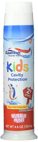 Aquafresh Kids Fluoride Toothpaste with Triple Protection, Bubblemint, 4.6 oz (130.4 g) (Pack of 3)