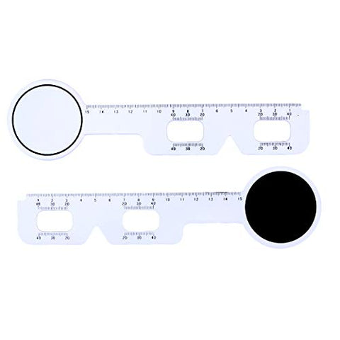 Healifty Pupil Distance Measuring Tool5pcs Durable White Plastic Optical PD Ruler Pupil Distance Measuring Ruler Meter Eye Ophthalmic Tool (White)