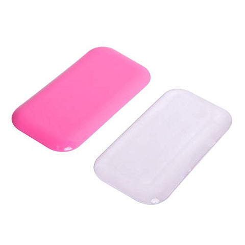 Eyelash Extension Silicone Pads/Silicone Pallet for Loose Lash/False Eyelash Holder 2PCS (Pink)