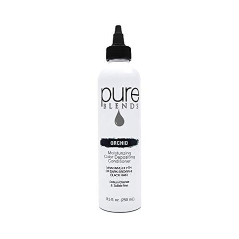 Pure Blends Hydrating Color Depositing Conditioner, Orchid, Depth Of Dark Brown To Black, 8.5 oz.