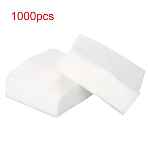 1000 Soft Facial Makeup Cotton Pads, Suitable for Facial Makeup Remover and Nail Remover, 100% Natural Cotton Water absorption and fine cotton cosmetics.