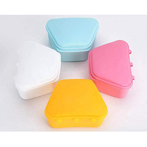 Tooth Box Organizer,15 pcs Dental Storage Container Case with Lid Denture Retainer for Travel,Color Random