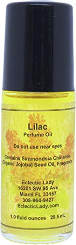 Lilac Perfume Oil, Large - Organic Jojoba Oil, Roll On, 1 oz