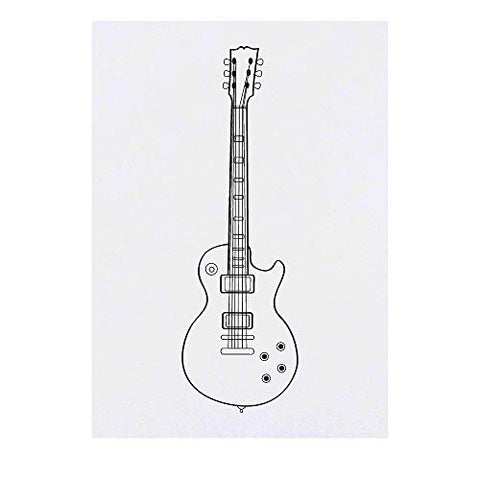 Azeeda Large 'Guitar' Temporary Tattoo (TO00016795)
