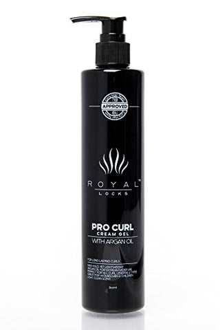 Royal Locks Pro Curl Cream Gel | Lightweight Cream Gel For Defining, Activating, Frizz Reduction, An