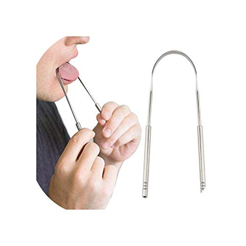 Stainless Steel Tongue Scraper Cleaner Fresh Breath Cleaning Coated Tonguetoothbrush Dental Oral Hygiene Care Tools