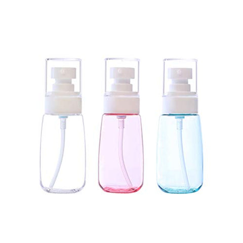Healifty refillable Spray bottle3Pcs Spray Bottle Travel Size U Shaped Mist Spray Bottle Thick Bottom Empty 60ml Airless Makeup Spray Bottle Clear Refillable Travel Containers