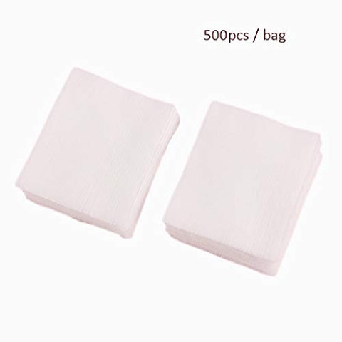 Face Make-up Removers 500Pcs/Bag Facial Organic Cotton Pads Facial Cleaning Nail Polish Remover Cosmetic Tissue Makeup Beauty Skin Care Tools (Color : White, Size : 56.2cm)