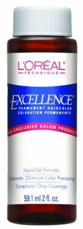 L'Oreal Excellence Hair Color -#4.40 - Dark Auburn 2 oz. (Pack of 6)