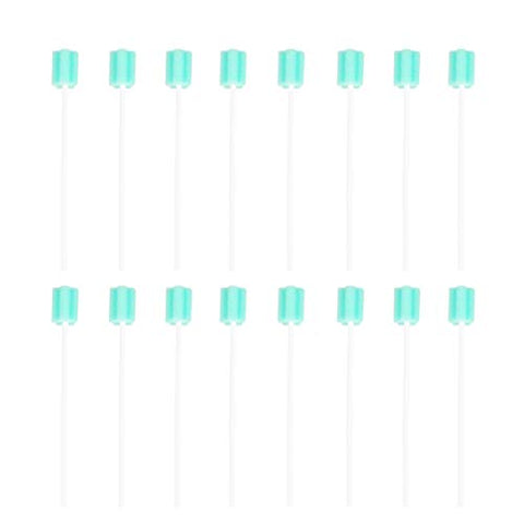 HEALLILY 30pcs Disposable Oral Care Swabs Elderly Teeth Cleaning Swabsticks Mouth Gum Sponge for Women Men (Green)