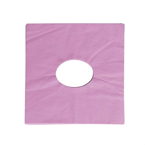 Healifty face Hole mat 100pcs Disposable Face Massage Cover Pad Face Hole Pillow Cushion Mat for SPA Beauty Salon Massage (Pink)