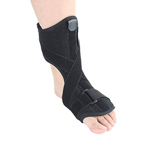 Healifty Ankle pad brace1PC Adult Ankle Support Splint Instep Sprain Adjustable Bandage Protective Gear Orthosis (Black)