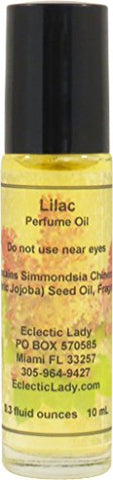 Lilac Perfume Oil, Small - Organic Jojoba Oil, Roll On, 0.3 oz