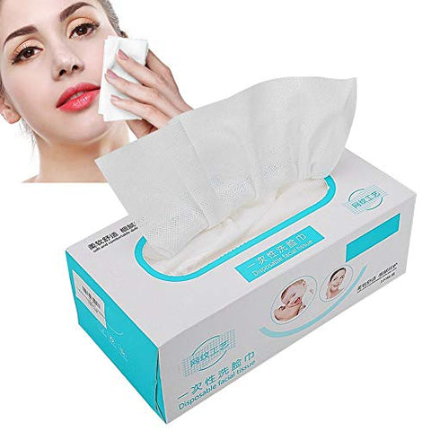 Soft Cotton Pad, 100Pcs Disposable Soft Face Towel Non-Woven Cosmetics Cotton Pads Makeup Facial Cleansing Unscented Wet Wipes for Baby and Kids Face Towel Removing Makeup and Clean