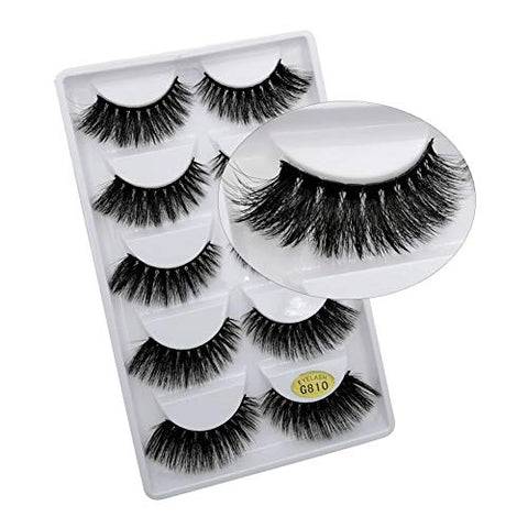 Eyelashes Natural Mink 3D Eyelashes False 5/10/50 pairs Eye Lashes Mink Lashes Fake Eyelash Extensions maquiagem faux cils (5 Pairs)