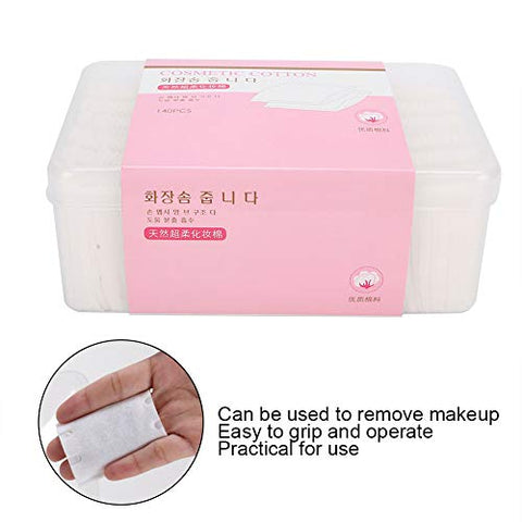 140pcs Soft Disposable Skin?Friendly Makeup Cotton Makeup Removal Cotton Pads Face Cosmetic Cotton Tool