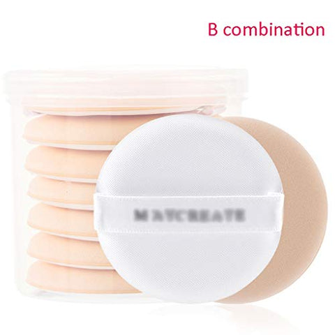 Face Make-up Removers 7-Piece Air Cushion Puff BB Cotton Sponge Loose Powder Wet and Dry Multi-Purpose Color Makeup Tools Beauty Cotton Pad (Color : A, Size : 5.3cm)