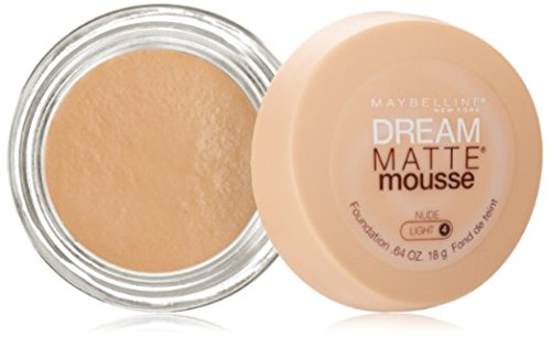 Maybelline Dream Matte Mousse Foundation, Nude [4], 0.64 oz (Pack of 3)