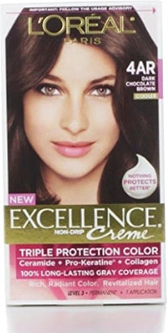 L'oreal Paris Excellence Creme Triple Protection Hair Color, Dark Chocolate Brown [G15] 1 Ea (Pack O