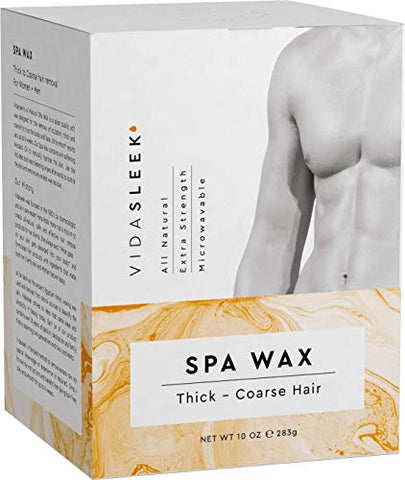 Extra Strength Hair Removal Waxing Kit Men + Women, All Natural (10 oz)