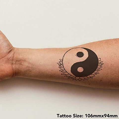 Azeeda Large 'Yin Yang Motif' Temporary Tattoo (TO00016606)