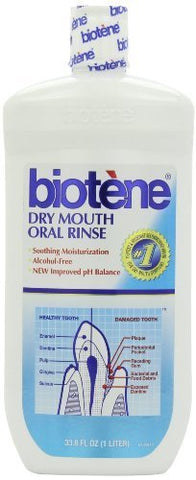 Biotene Oral Rinse for Dry Mouth Symptoms-33.8 oz by Biotene