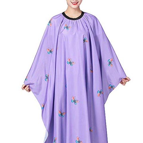 Hairdresser Cape, Adult Color Hair Wrap Hairdressing Cape Hair Cutting Capes For Home Hair Stylist Professional Salon Cape Hair Styling Cap (Purple)
