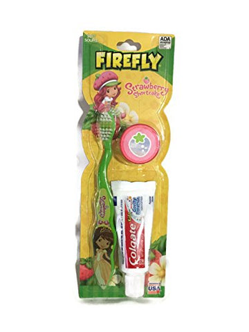 Firefly Strawberry Shortcake Green Soft Bristle Toothbrush Kit