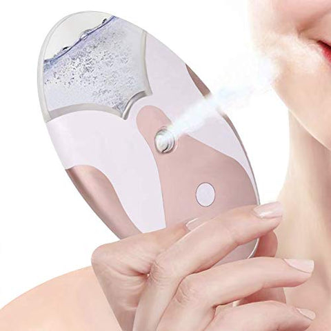 Nano Facial Mister Face-Steamer Eyelash-Sprayer - Handy Mini Face Skin Moisturizing Hydrating Atomizer Rechargeable Portable Cool Makeup Atomization Hydration Humidifier