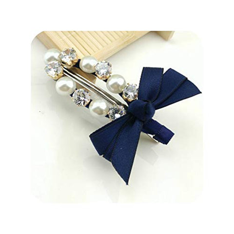 New 12 Types colorful Bow Hair Clips Barrette Cute Pearl Hair PRhinestone Hair Accessories Crystal Hairp New,04