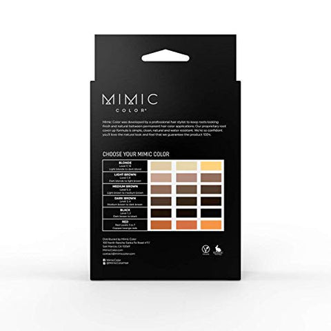 Mimic Color Root Cover Up for Hair Grey Hair Concealer Hair Root Color Touch Up Temporary Hair Color Covers Gray (Full Kit, Red)