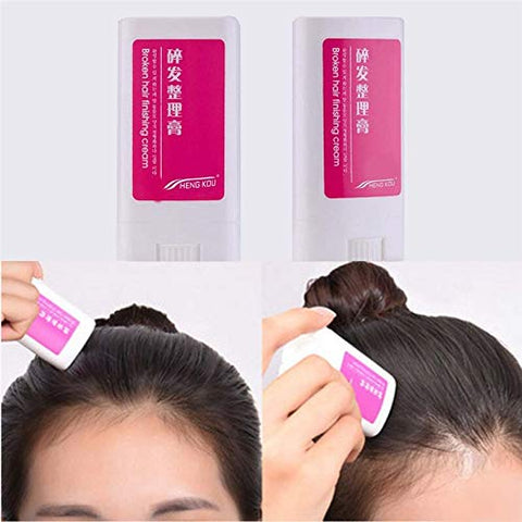 YINJIESHANGMAO Practical Women Small Broken Hair Essential Finishing Cream Portable Refreshing Styling Fix Wax Stick Hair Cream Flat