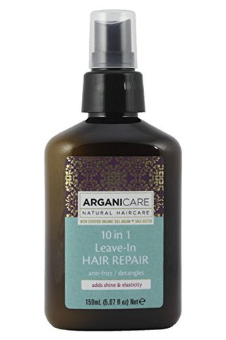 Arganicare 10 In 1 Leave In Hair Repair Anti Frizz, With Organic Moroccan Argan Oil Detangles And Ad