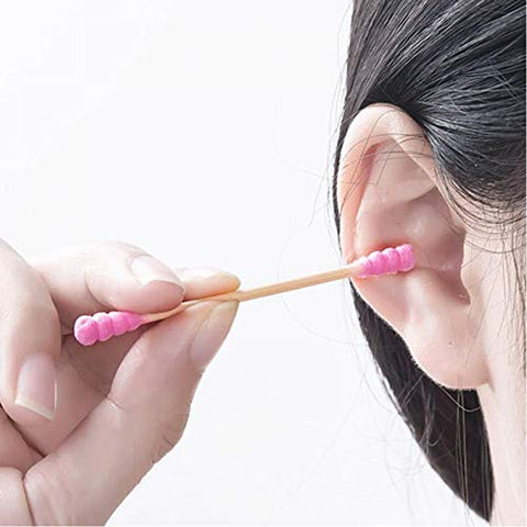 200Pcs/Lot Candy Color Soft Thread Dual-Head Cotton Swabs Stick Makeup Tools Bamboo Handle Personal Hygiene Care Makeup Tools
