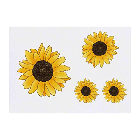 Azeeda 4 x 'Sunflower' Temporary Tattoos (TO00007455)