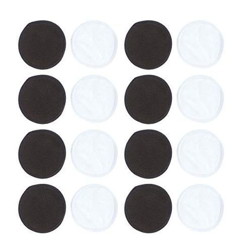 Beaupretty 12PCS Makeup Remover Pads Bamboo Fiber Cleaning Puffs Reusable Double Layer Facial Pads Rounds Cotton Makeup Pads