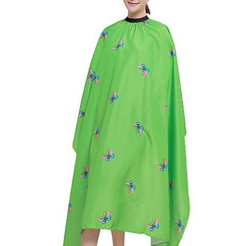 Hairdresser Cape, Adult Color Hair Wrap Hairdressing Cape Hair Cutting Capes For Home Hair Stylist Professional Salon Cape Hair Styling Cap (Green)
