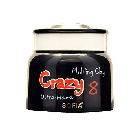 Crazy 8 Ultra Hard Hair Molding Clay Strong Hold Matte Finish by SOFIA