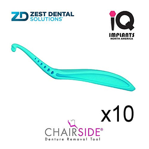 Zest CHAIRSIDE Essential Denture Removal Tool, 10-Pack