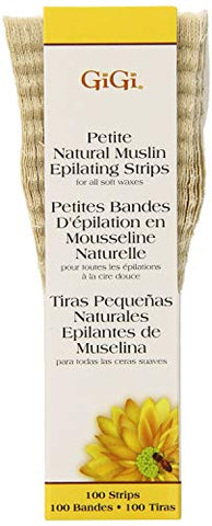 GiGi Natural Muslin Epilating Strips - Petite 100-Count (Pack of 2)