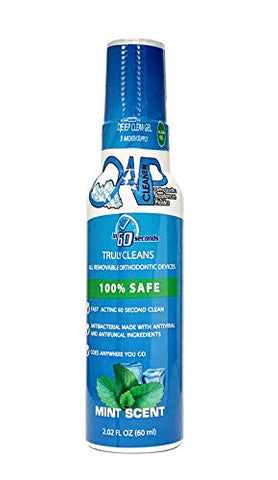 NEW SIZE! OAP Cleaner - Cleans and Sterilizes Removeable Dental and Ortho Appliances Removes Bacteria Stains Bad Odors - GEL (90 Day Supply)